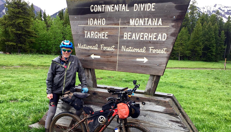 Idaho Montana stateline on the Tour Divide press release
