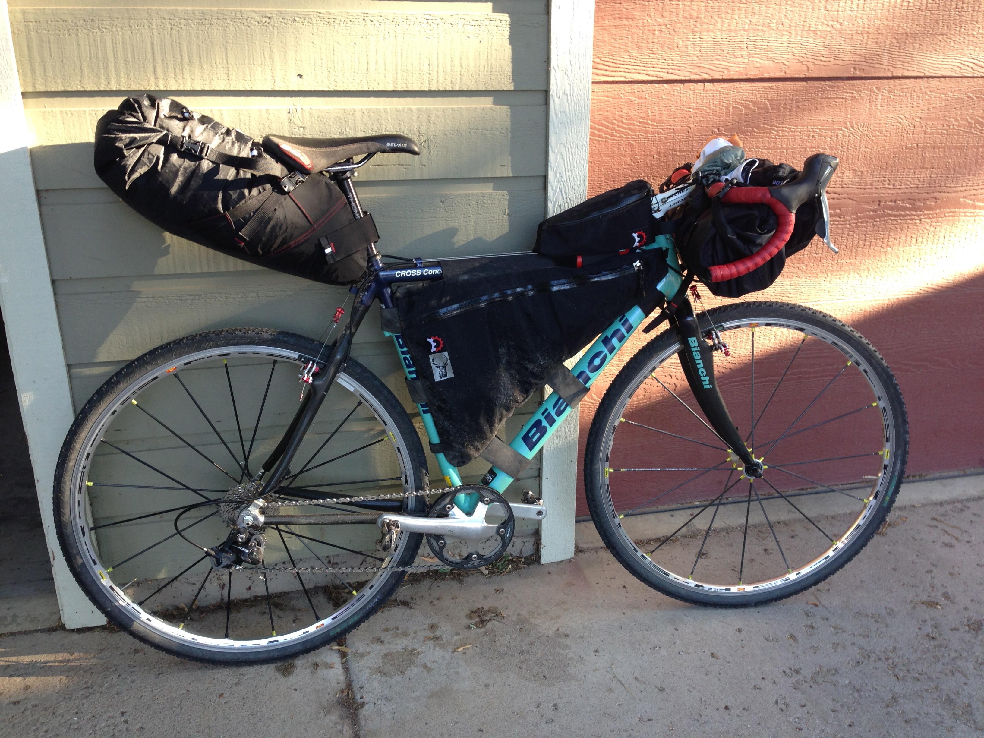 bikepacking gear set up