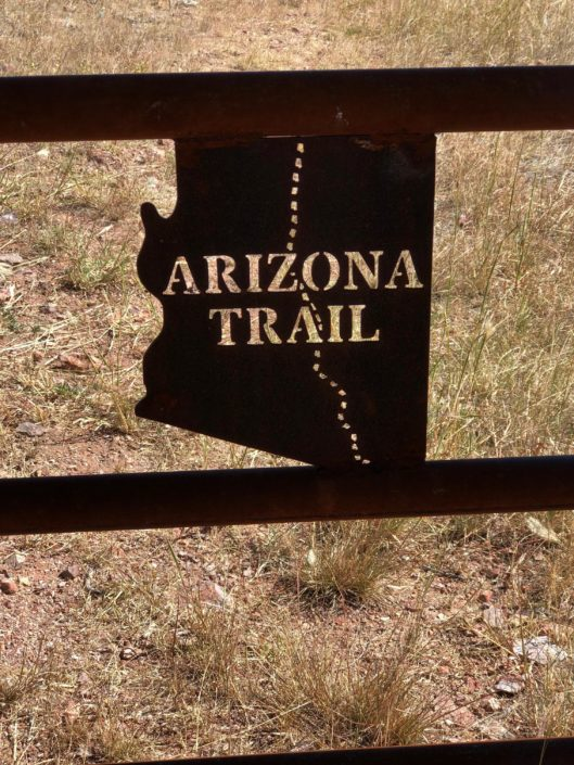 Arizona Trail - Gate sign Arizona Trail Planning Guide